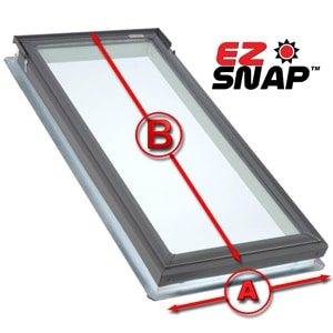 How to Measure Flat Glass Skylights for Exterior Shades