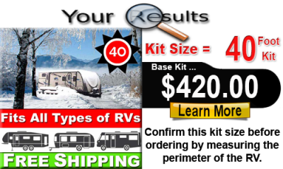 40 Foot RV Skirting Kit Calculated Results BASE KIT