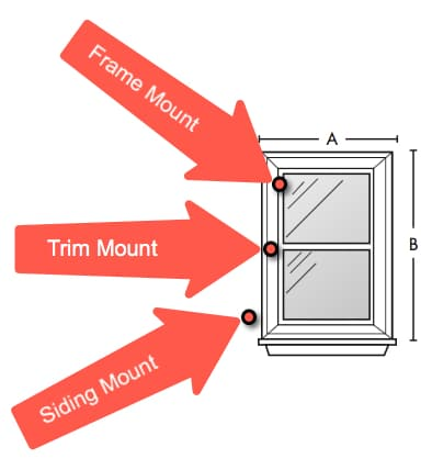 EZ Snap Window Shade Fastener Placement
