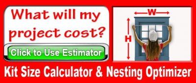 Kit Size Calculator for Window Shades - Click for Estimate