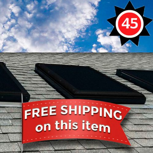 EZ Snap Exterior Skylight Sun Shade Covers for Houses 45 Foot kit