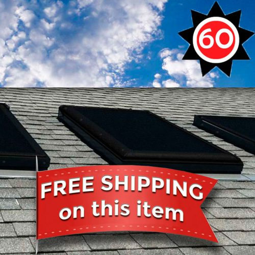 EZ Snap Exterior Skylight Sun Shade Covers for Houses 60 Foot kit