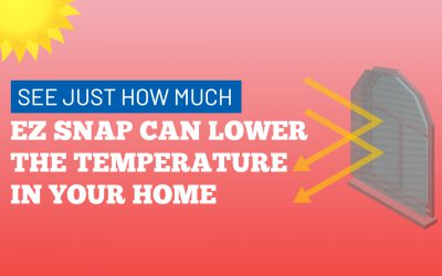 See how much EZ Snap window shade can lower the temperature in your home