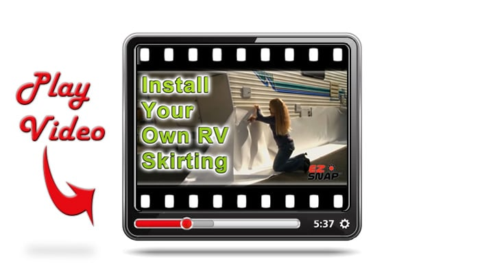 How to Install RV Skirting Video - Play Now