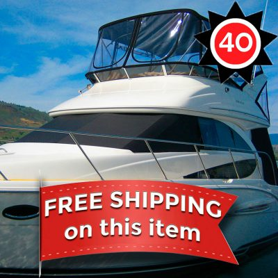 EZ Snap Exterior Yacht and Boat Sun Shade Covers for all boats styles 40 Foot kit